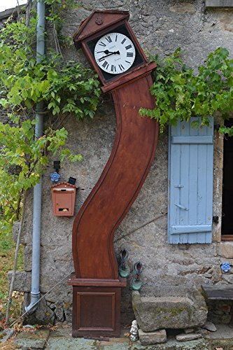 Home Comforts Acrylic Face Mounted Prints Rustic Grapevine Grandfather Clock Wall Bendy Print 18 x 24. Worry Free Wall Installation – Shadow Mount is Included.