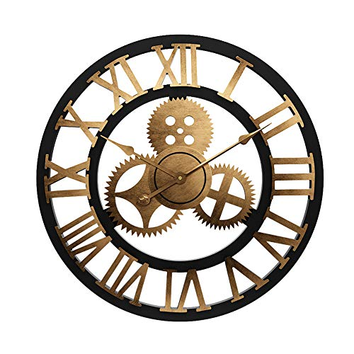 LightInTheBox Vintage 3D Wall Clock Operated Battery Farmhouse Country Style Large Size Clock Wall Decor for Office Living Room Decor