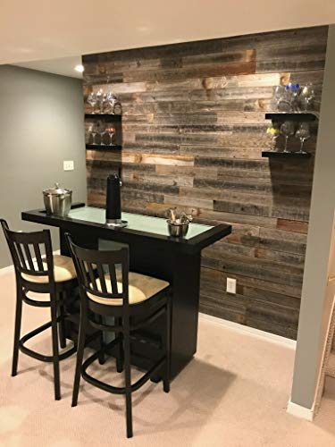 Real Weathered Wood Planks for Walls! Rustic Reclaimed barn Wood Paneling for Accent Walls, Easy Application (3 square feet)