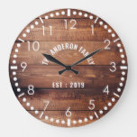 Rustic wood Country Wooden Family Farm House Large Clock