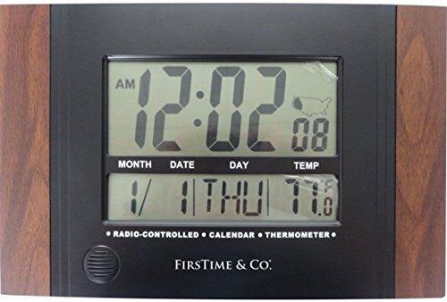 FirsTime 31022 Executive Digital Tabletop Clock, Black