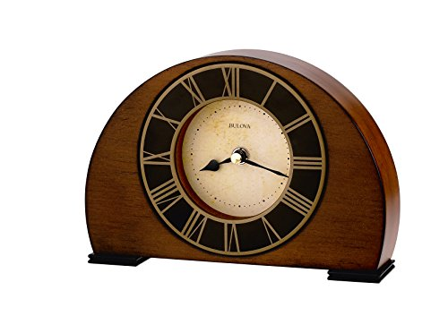 Bulova B7340 Tremont Clock, Walnut Finish
