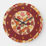 Fall Leaf Collection Large Clock