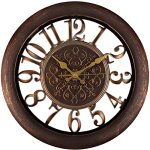 Adalene Wall Clocks Battery Operated Non Ticking – Completely Silent Quartz Movement – Vintage Rustic Clocks for Living Room Decor, Kitchen Bedroom Bathroom – Modern Retro Wall Clock Large Decorative