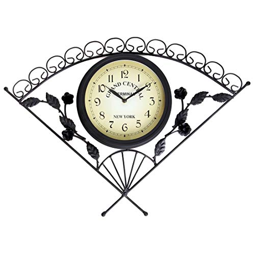Lily's Home Rustic Outdoor Wall Clock