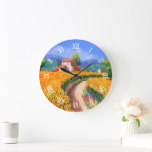 Colorful Summer Flowers La Provence France Large Clock