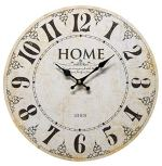 Home – Where you Treat Your Friends Like Family, and Your Family Like Friends. – Round Wood Style Wall Clock for Home – Arabic Numerals, Farmhouse Rustic Home Decor – 13 Inches Diameter