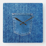 Denim Jeans Pocket Western Wall Clock