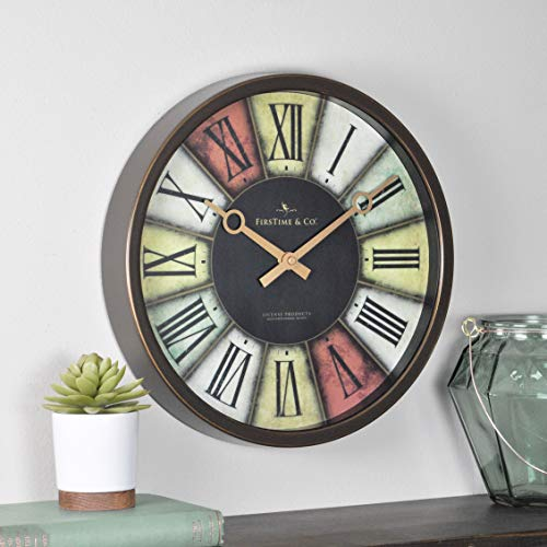 FirsTime Wall Clock, Brown/Gold