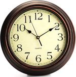 Adalene Wall Clocks Battery Operated Non Ticking – COMPLETELY SILENT 12 Inch Vintage Rustic Wall Clocks for Living Room Decor, Analog Kitchen Wall Clock – Retro Wall Clocks Large Decorative Wall clock