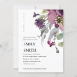 SOFT WILD PURPLE LILAC FLORAL BRIDAL SHOWER INVITE
