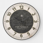 ANTIQUE ATLAS WORLD MAP LARGE CLOCK