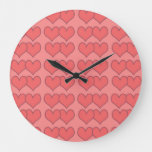 Loveyouart Heart Pattern Large Clock