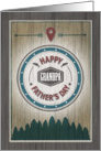 Fathers Day Grandpa, Rustic Wilderness Graphics Greeting Card
