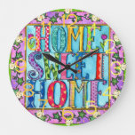 Home-Style Home Sweet Home Wall Clock