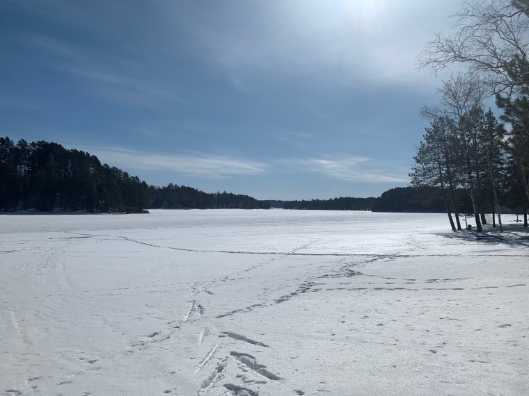 A frozen lake at Biwabik, Minnesota