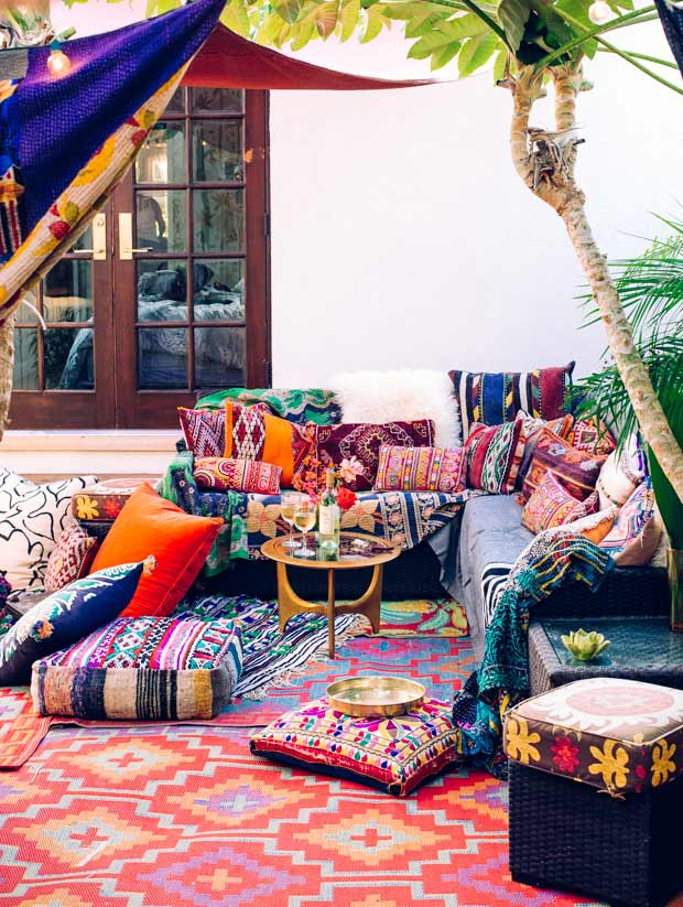 Colorful Boho patio