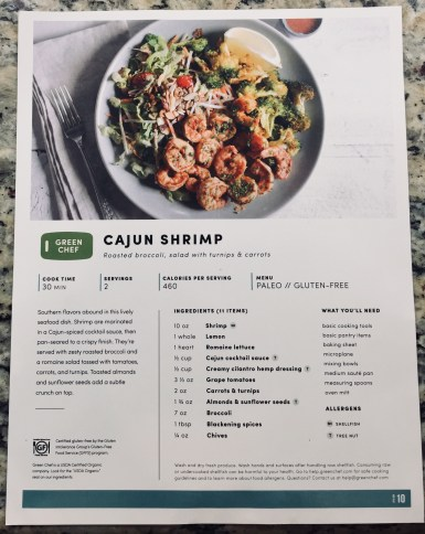 Green Chef Cajun Shrimp