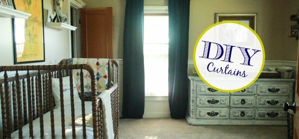 DIY Hidden Tab Curtains Using Cafe Rings