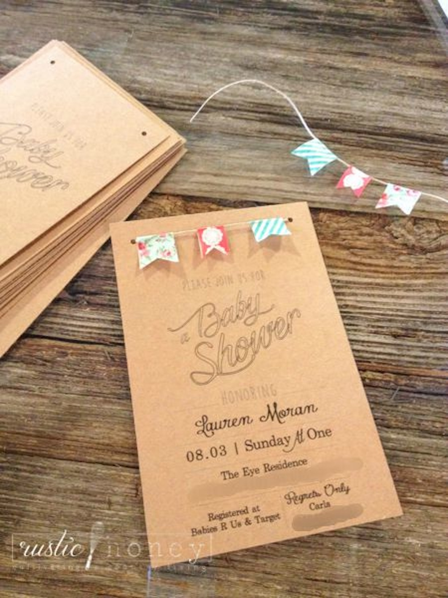 Free Printable: Neutral Baby Shower Invite
