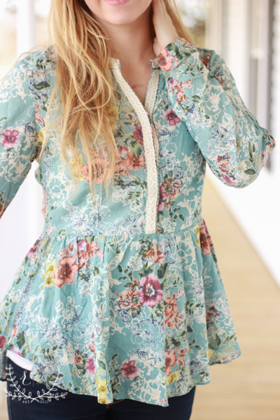 Mint-Floral-Peplum-Blouse-With-Lace (3 of 9)