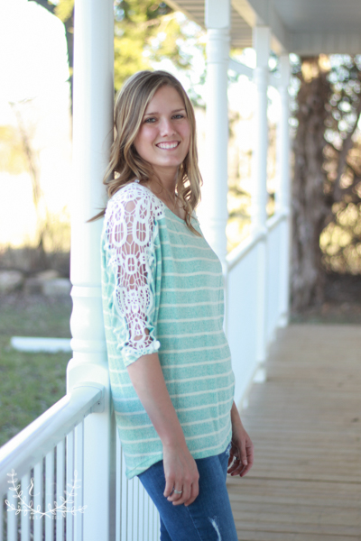 Striped-Mint-Spring-Sweater-With-Lace (2 of 5)