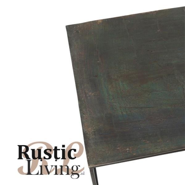 Salontafel Rechthoekig Oxidize Aluminium Ijzer Antiek Zwart Groen