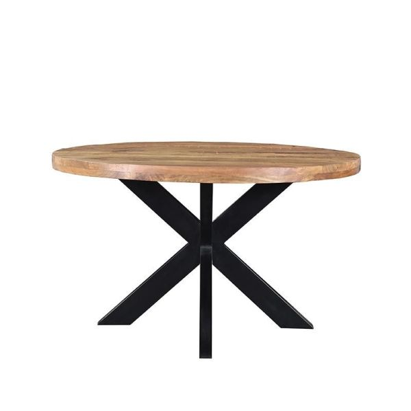 Eettafel ziggy mangohout metaal zwart