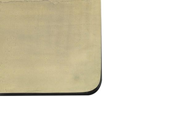 Bijzettafels set 2 stuks Lebu metaal antiek koper brons