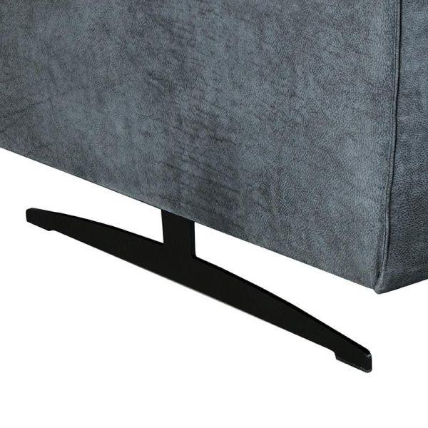 hoekbank modena microvezel grafiet metaal zwart