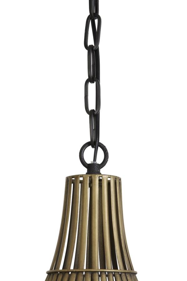 hanglamp stella metaal brons rond