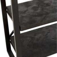 Rek Grub drijfhout zwart visgraat metaal zwart
