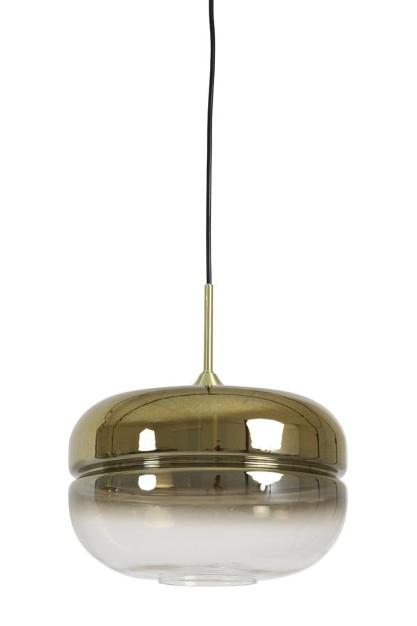 Hanglamp Cherle goud glas mat goud zwart
