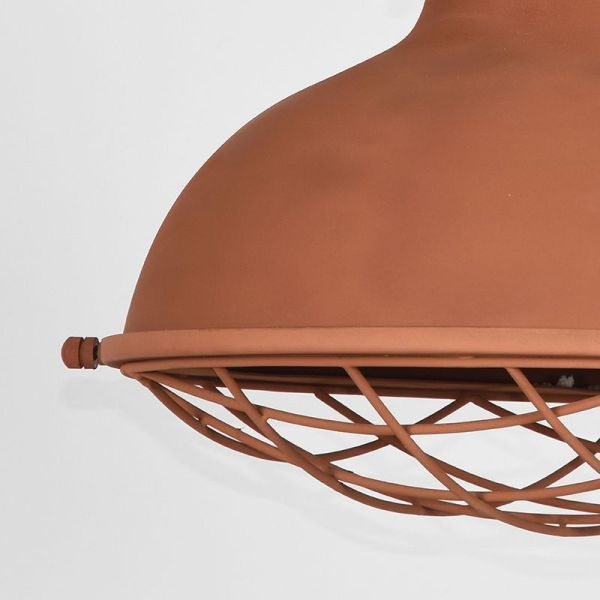 hanglamp Grid mangohout naturel metaal roest 52