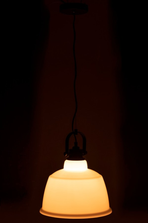 Hanglamp Magali Staal Glas Wit