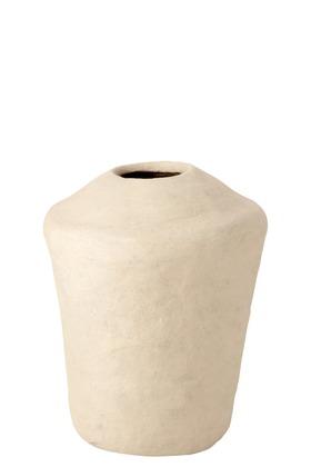 Vaas Large Chad Papier Mache Wit