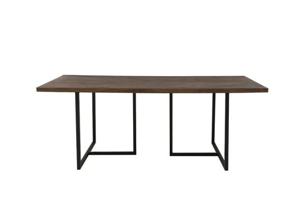 Eettafel Chisa hout metaal zwart 200cm