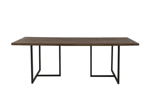 Eettafel Chisa hout metaal zwart 220cm