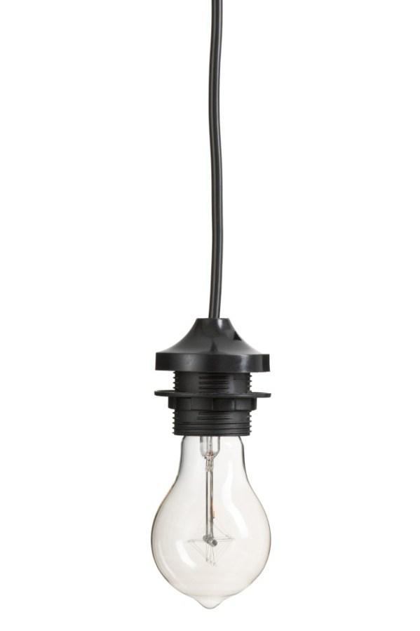 pendel voor lampenkappen plastic zwart
