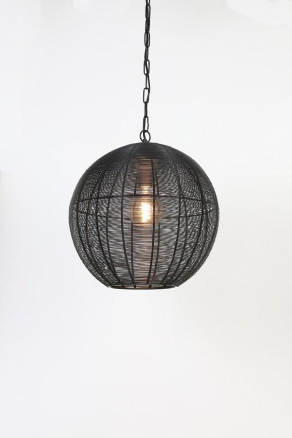 hanglamp amarah mat zwart metaal 40cm1