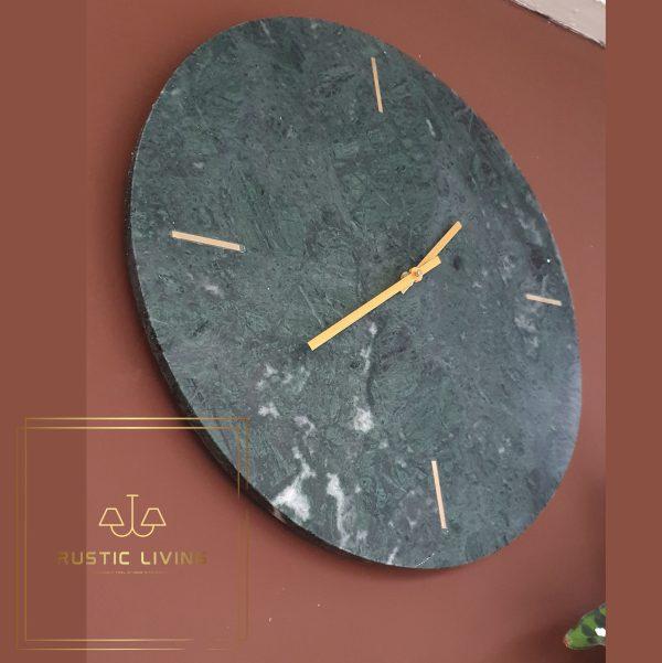 klok Daluca marmer groen goud metaal