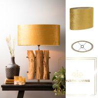 lampenkap gamstone goud velours