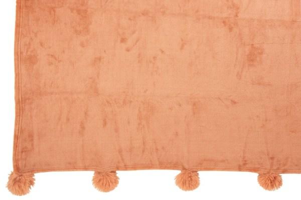 Plaid Pompom Polyester Oud Roze