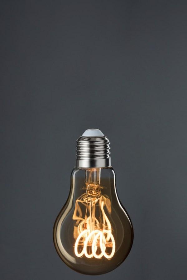 Ledlamp a19 Amber spiraal retro e27
