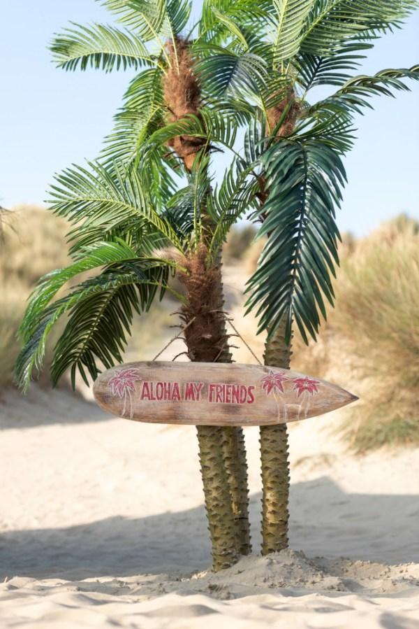 Palmboom 3delig Real Touch In Pot Plastiek Groen