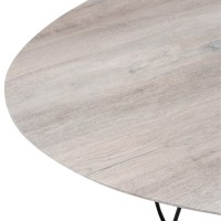 Salontafel Ovaal hout white wash Ijzer Naturel Zwart