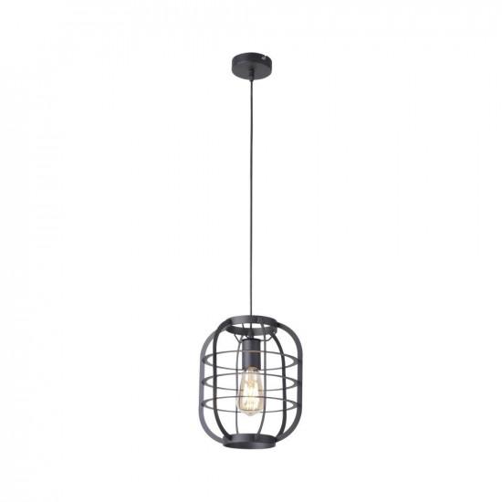 Hanglamp in zwart in rustieke industriële stijl
