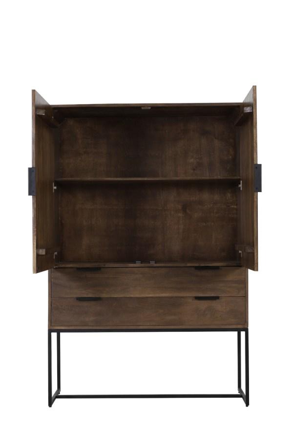 Kast 120x40x180 cm MEAVE hout donker bruin