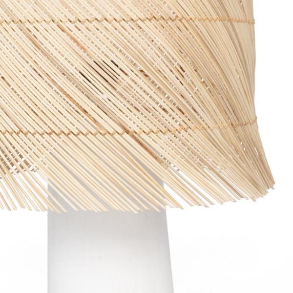 Tafellamp BOHO rotan terracotta mat wit