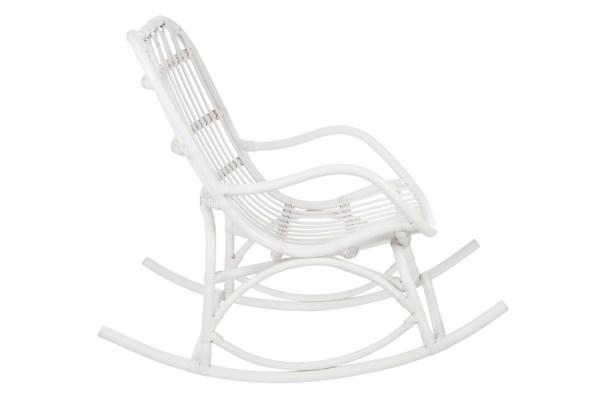 schommelstoel rotan mat wit